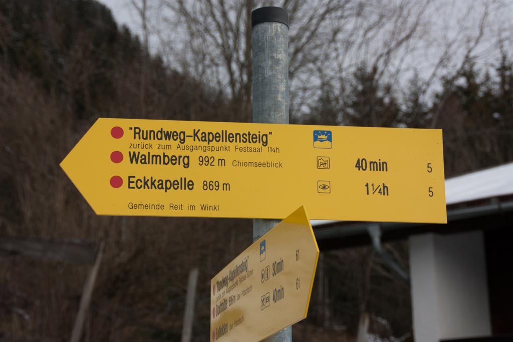 Reit im Winkl 2014: Walmberg-Bahn Aufstieg