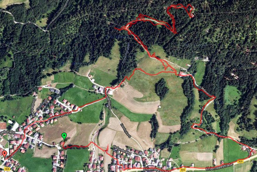 Reit im Winkl 2014: Walmberg-Bahn Aufstieg / GPS Track