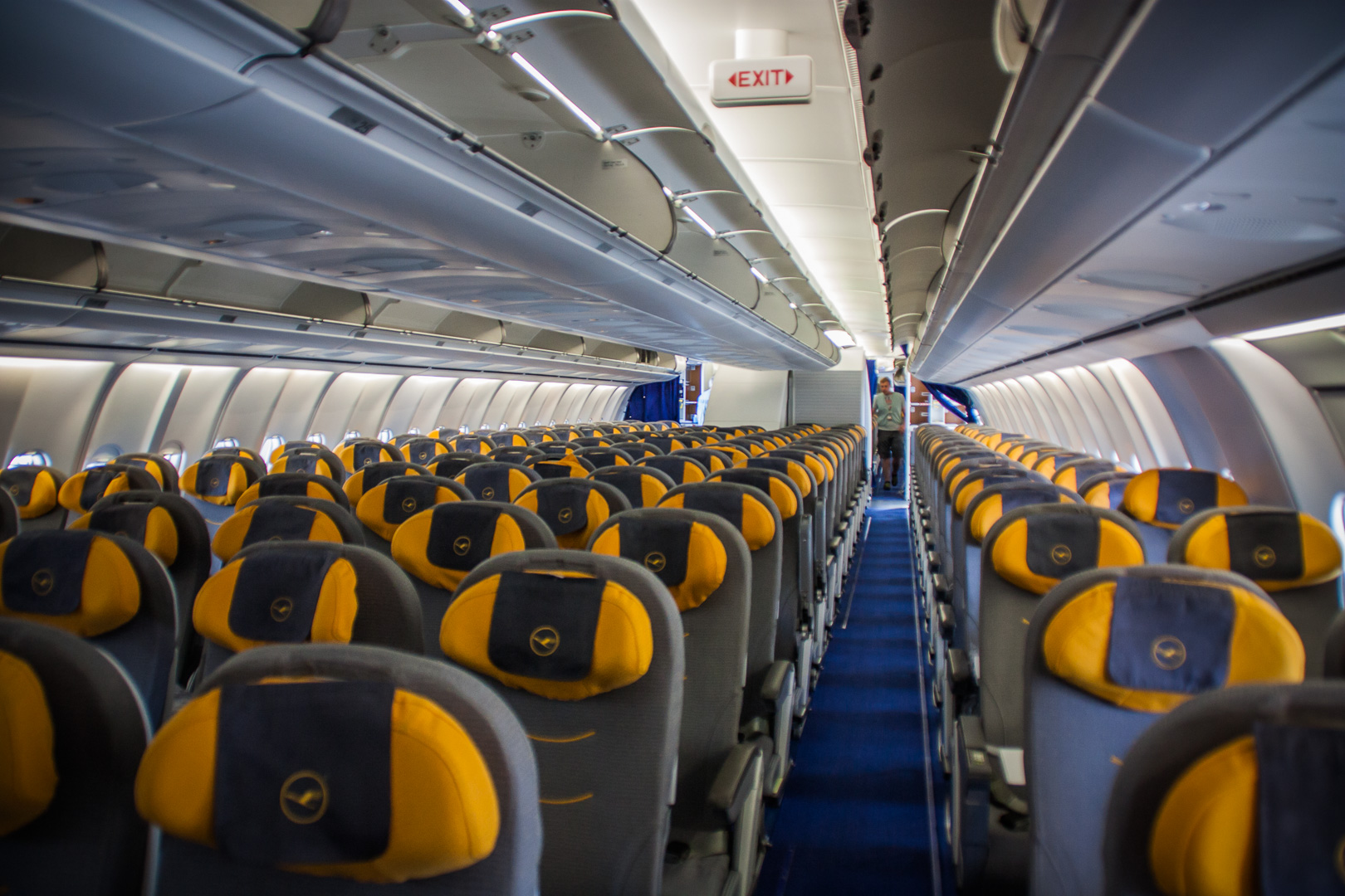 Economy Class der Lufthansa