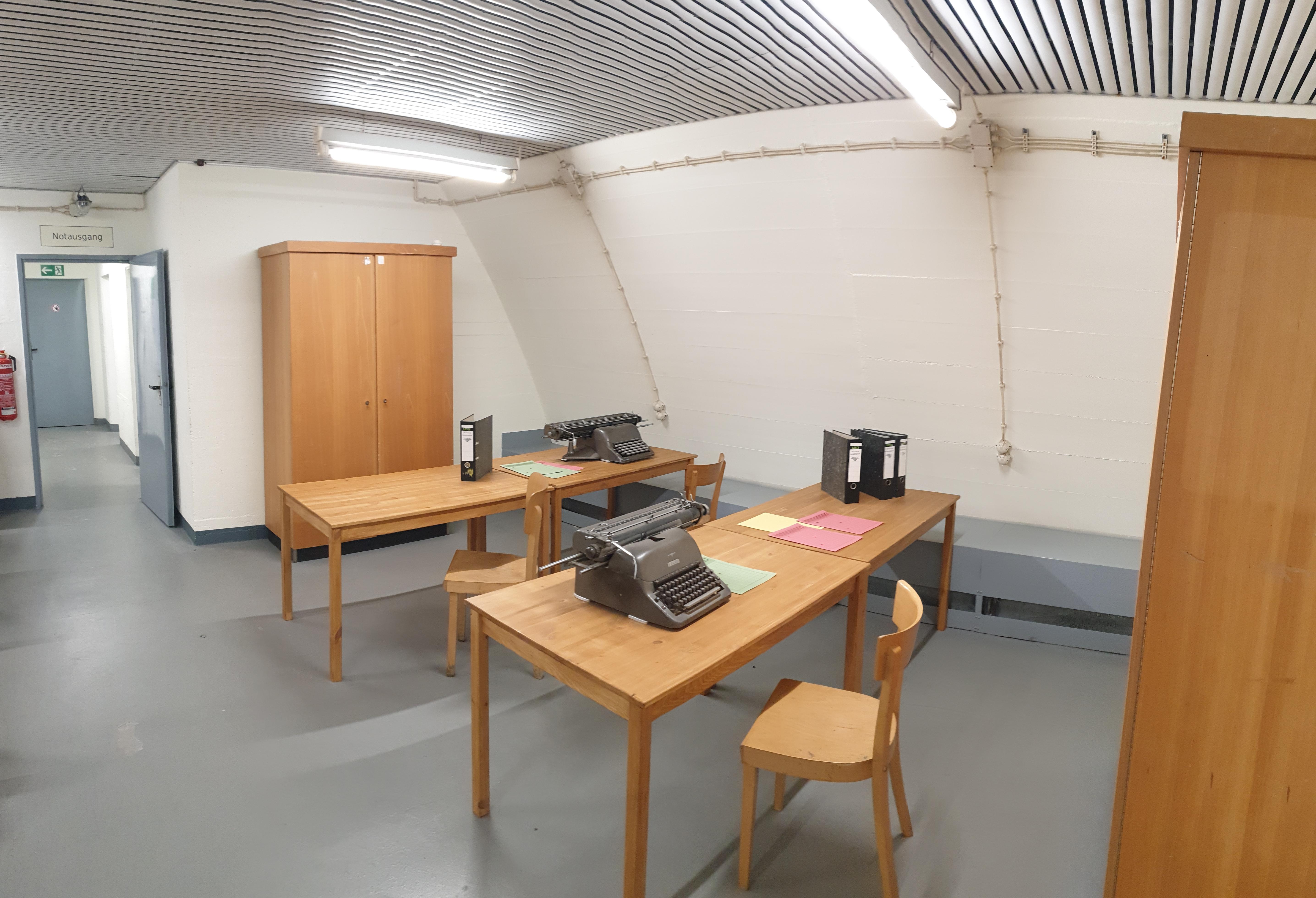 Büroräume im Bunker