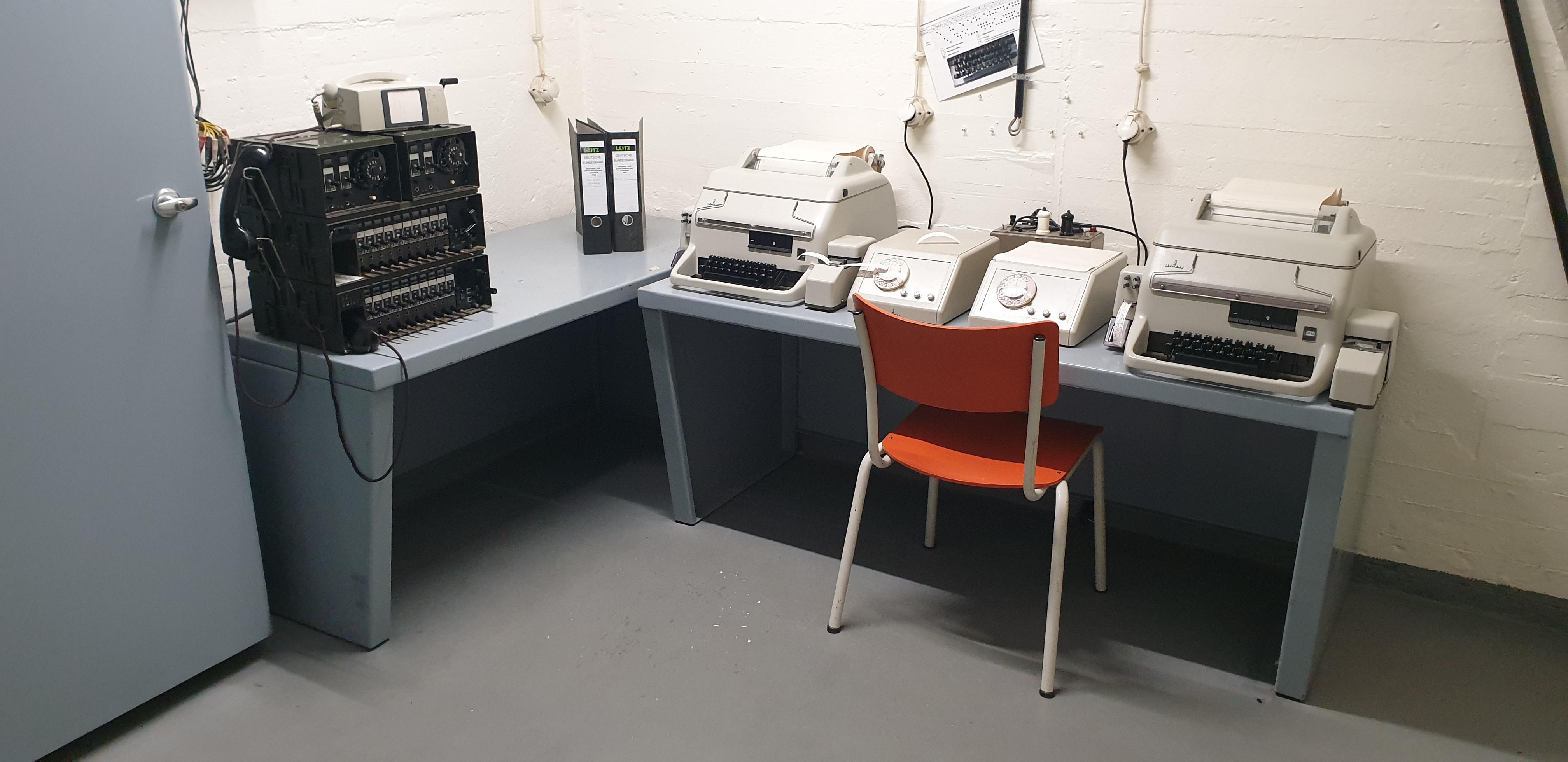 Telekommunikationszentrale im Bunker